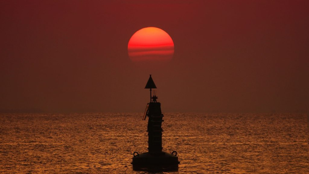 Moored Buoy at Sunset
