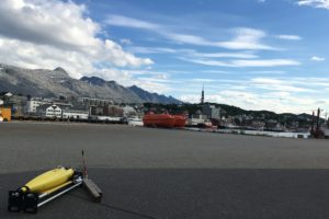 Seaglider in Norway ready to be loaded onto research vessel