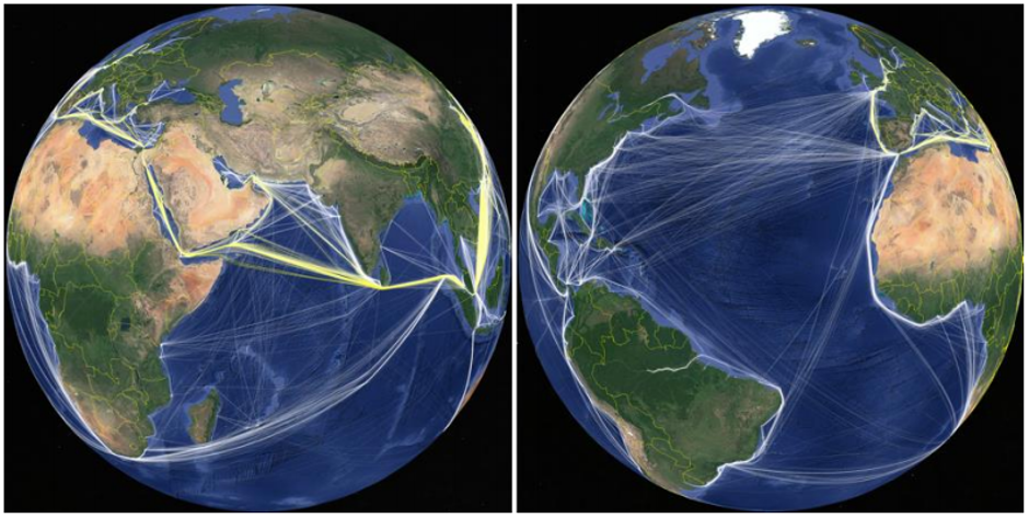 Patterns of World Trade Sea Voyages - (Source Marine Benchmark)